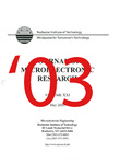 Journal of Microelectronic Research - May 2003